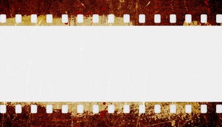 cinema strip: Grunge film strip frame Stock Photo