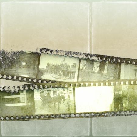 Grunge film strip background photo