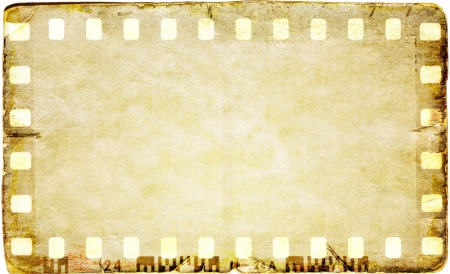 film strip: Grunge sepia film strip frame Stock Photo