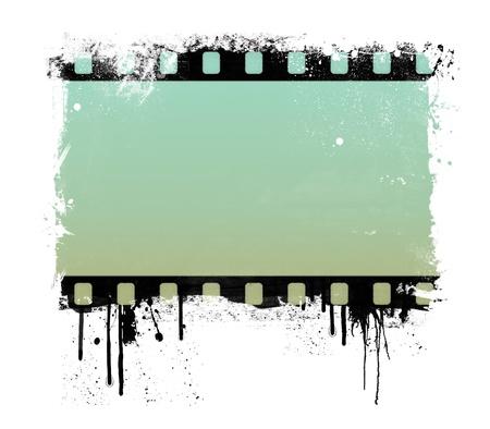 Grunge dripping film strip frame photo