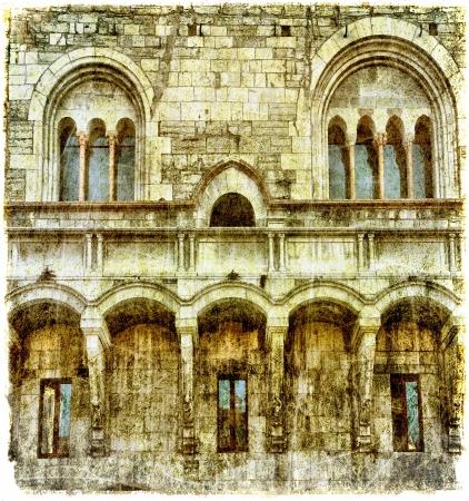 Vintage medieval structure