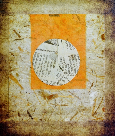 Painted rice paper with fragment of japanese newspaper Stock Photo - 16133242