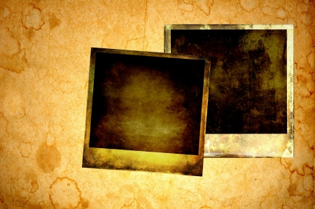Blank instant photos on old paper Stock Photo - 16133234