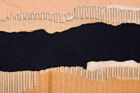 Ripped cardboard texture or background Stock Photo - 16133258