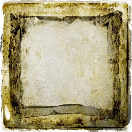 Grunge sepia abstract background frame