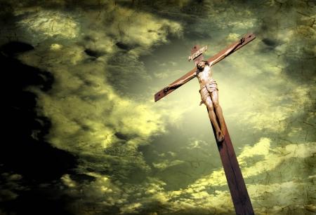 sky  dramatic: Crucifix on dramatic sky