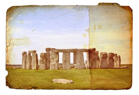 stonehenge: Stonehenge vintage image on paper