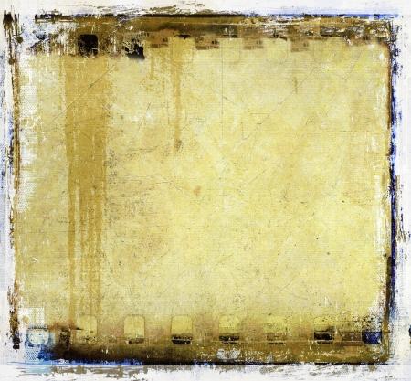 Grunge sepia film strip frame Stock Photo