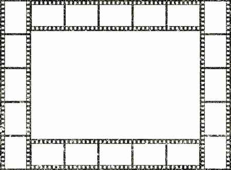Grunge film strip frame Stockfoto