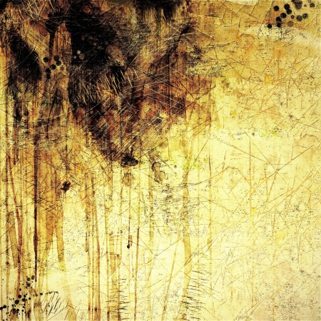 Grunge sepia dripping abstract background
