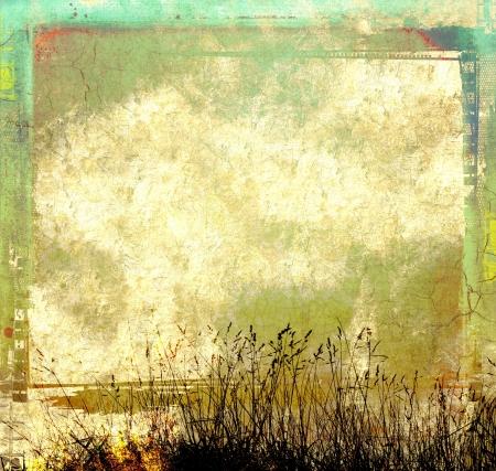 herbs wild: Grunge fondo abstracto con hierbas silvestres Foto de archivo
