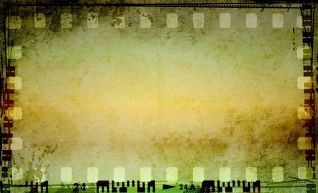 Grunge film strip frame Stock Photo