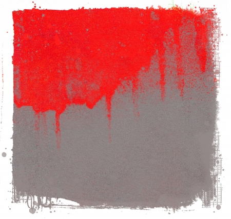 Grunge red dripping on gray background photo