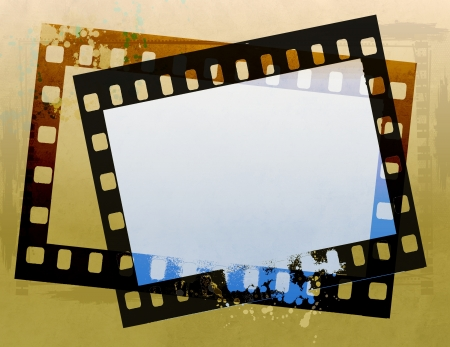 Grunge film strip frame photo