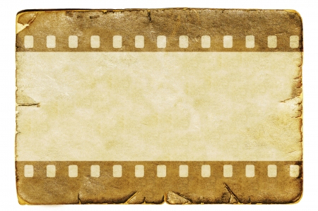 film strip: Grunge film strip frame on old paper