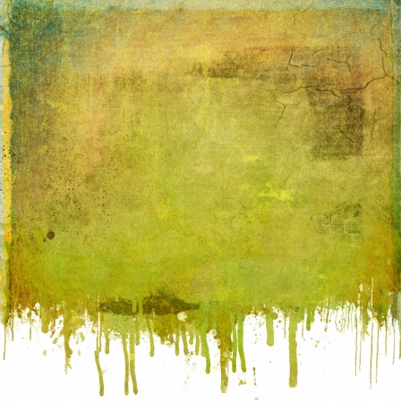 Grunge dripping green background photo