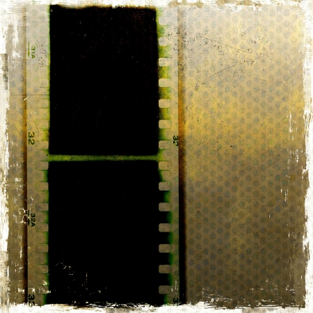 Grunge film strip frame Stock Photo
