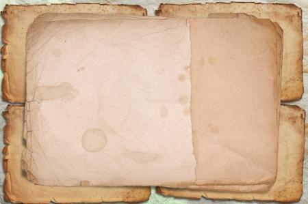 Carta vecchio telaio e macchiato