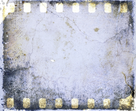 Grunge blue film strip frame Stock Photo