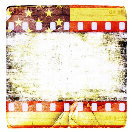 Grunge americans film frame Stock Photo