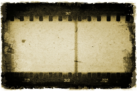 Grunge film strip frame photo