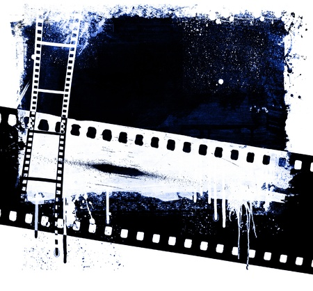 Grunge film strip background photo