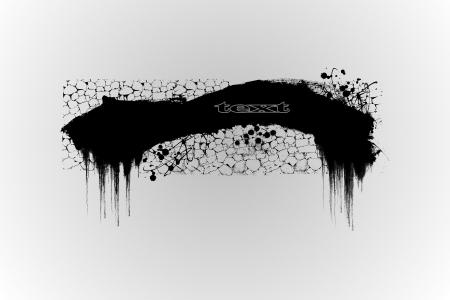 Abstract grunge banner design element Stock Photo