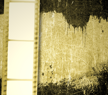 photography backdrop: Vintage film strip background with dripping