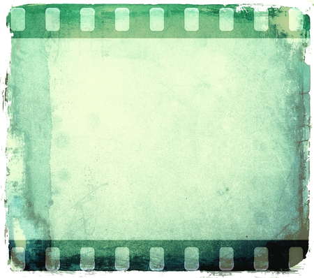 film industry: Grunge green film strip frame