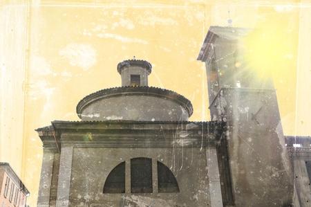 beginning: Ancient church at the beginning of 600