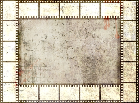 old papers: Grunge film strip frame. Gray  tones Stock Photo