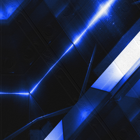 aluminum: Blue aluminum surface. Metallic geometric  texture background Stock Photo