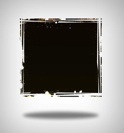 grunge banner: Grunge frame or banner on gray background