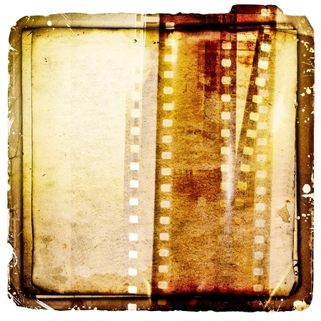 paper strip: Vintage sepia film strip background on ancient paper.