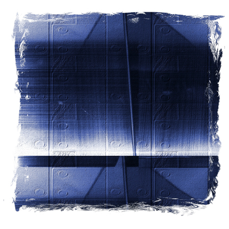 Blue reflecting metallic surface. Technological texture and background