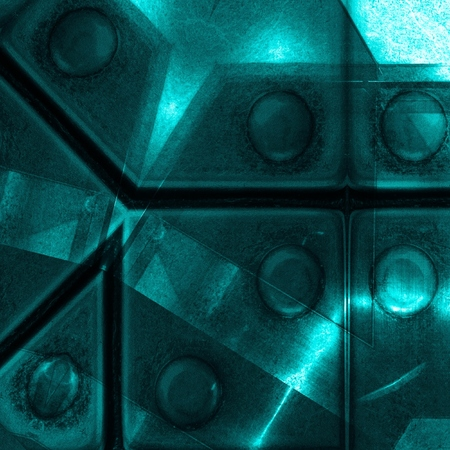 Blue aluminum surface. Metallic geometric  texture background. Industry concept.