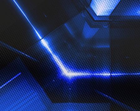 Blue aluminum surface. Metallic geometric  texture background. Industry concept.