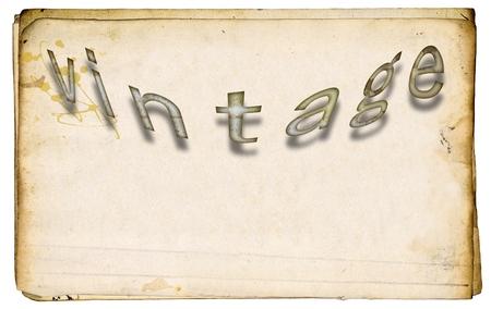 Parola d'epoca sulla vecchia carta macchiata. Archivio Fotografico