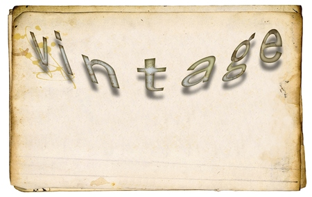 Vintage word on old stained paper. Archivio Fotografico