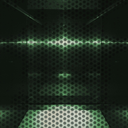 Neutral green aluminum surface. Metallic geometric  texture background