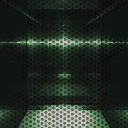 Neutro superficie di alluminio verde. Priorità bassa metallica geometrica trama Archivio Fotografico