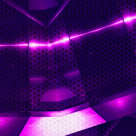 Purple aluminum surface with holes. Metallic geometric  texture background Stock Photo