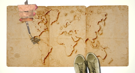 Vintage Amazing Philippines Travel Stamp With Map Outline - Blank map of the us travel log
