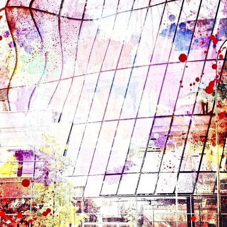 Grunge multicolor texture or background. Large glazed shape.