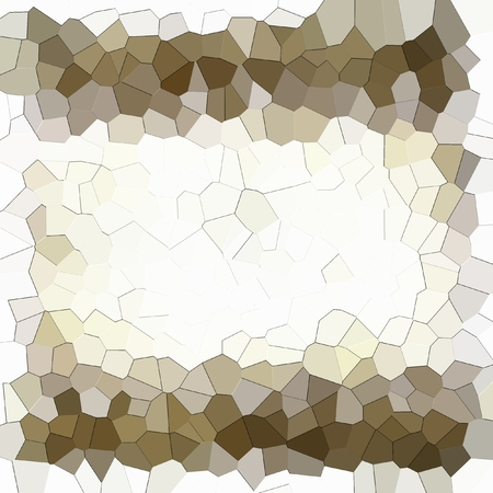 Abstract geometric frame. White, sepia and brown.