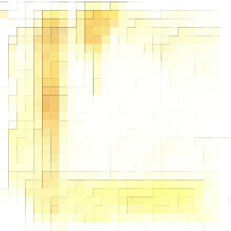 Fondo geometrico bianco e giallo astratto del modello