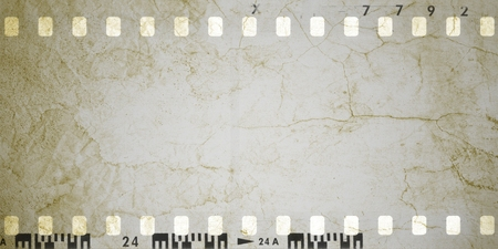Sepia vintage cracked film strip frame
