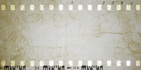 Telaio di striscia di pellicola d'epoca di seppia