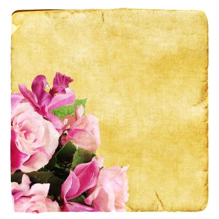 Old indossati carta con rose
