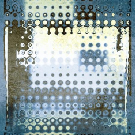 Astratto sfondo blu geometrico punteggiato pattern Archivio Fotografico